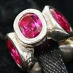 "RubyRed ""Oval Lights""  925 Pandora Charm"
